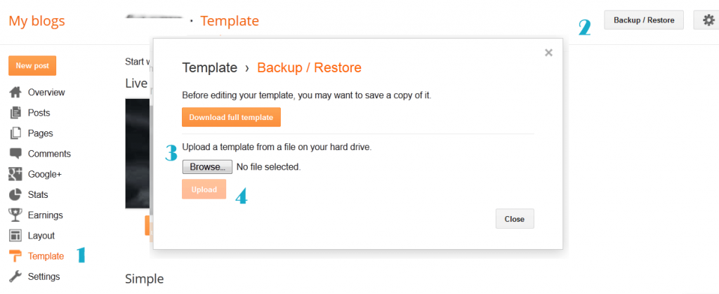 blogger template documentation install-blogger-template