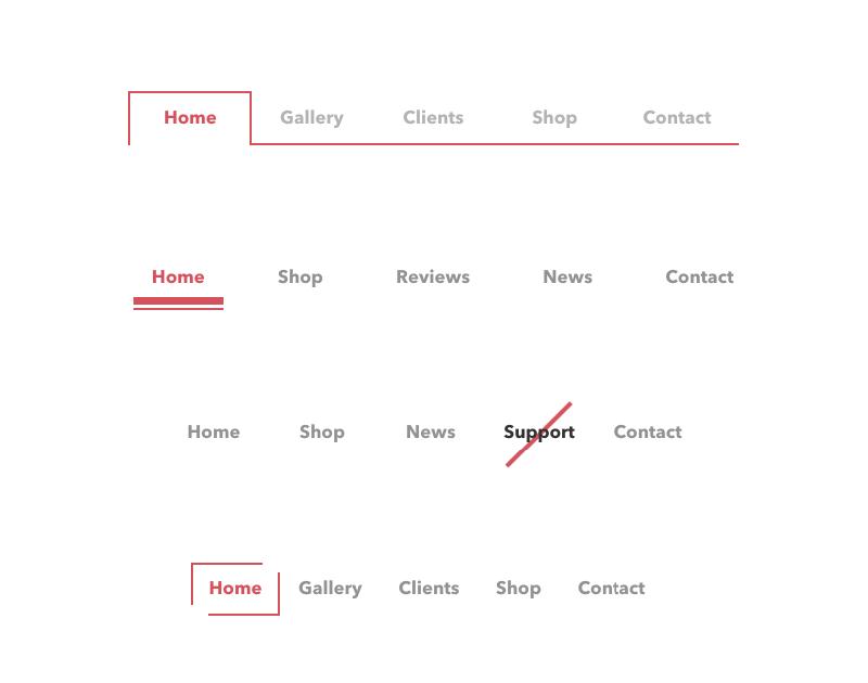 navigation menus style